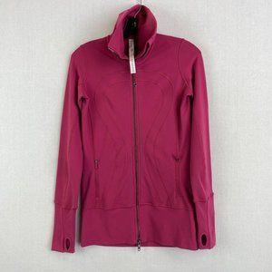 LULULEMON Hot Pink High Neck Zip Up Jacket